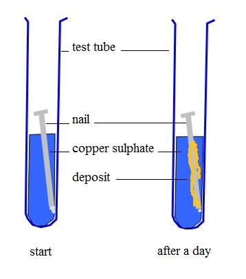 the reaction of iron nails with Section assignment 34 part f – the reaction of iron nails with a copper solution introduction: the experiment in this activity involves the reaction between a copper (ii) chloride solution with iron nails and the mole ratios involved in the reaction.